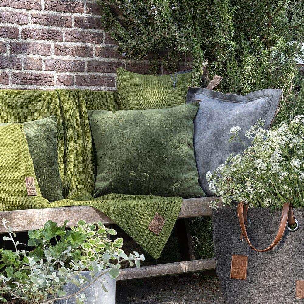 knit factory 1421214 james kussen 50x50 groen 6