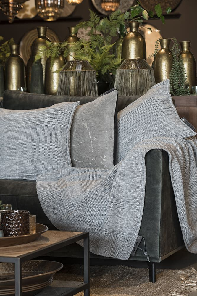 knit factory 1431211 joly kussen 50x50 licht grijs 3