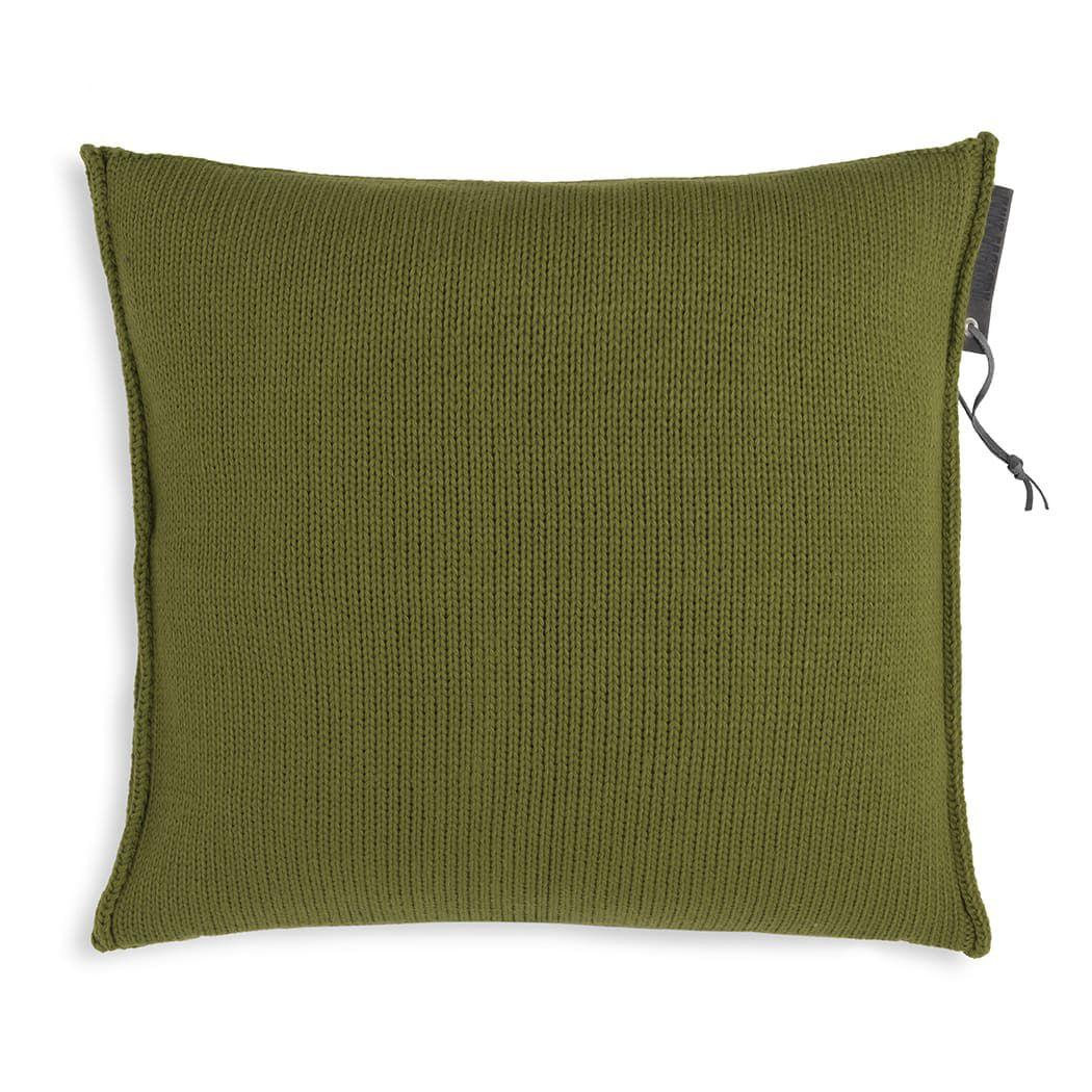 knit factory 1431215 joly kussen 50x50 mosgroen 2