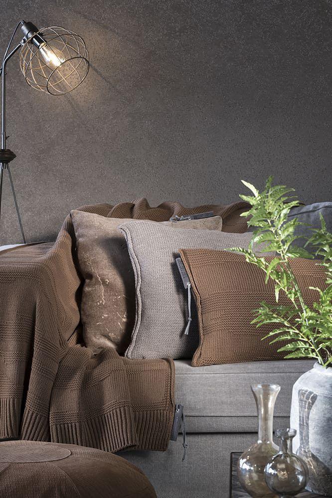 knit factory 1431335 joly kussen 60x40 tobacco 4