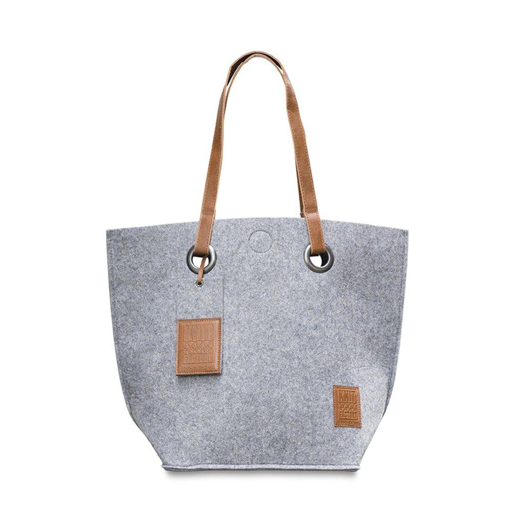 knit factory 1709011 tess schoudertas licht grijs 1