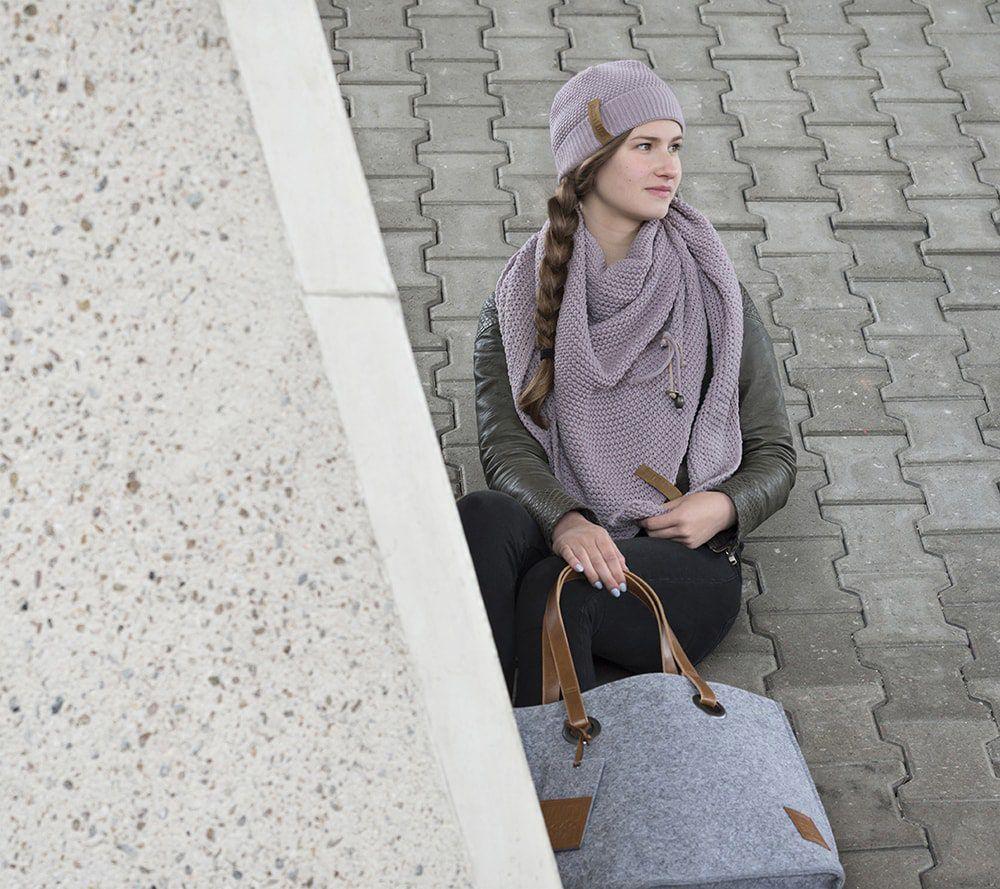 knit factory 1709011 tess schoudertas licht grijs 5