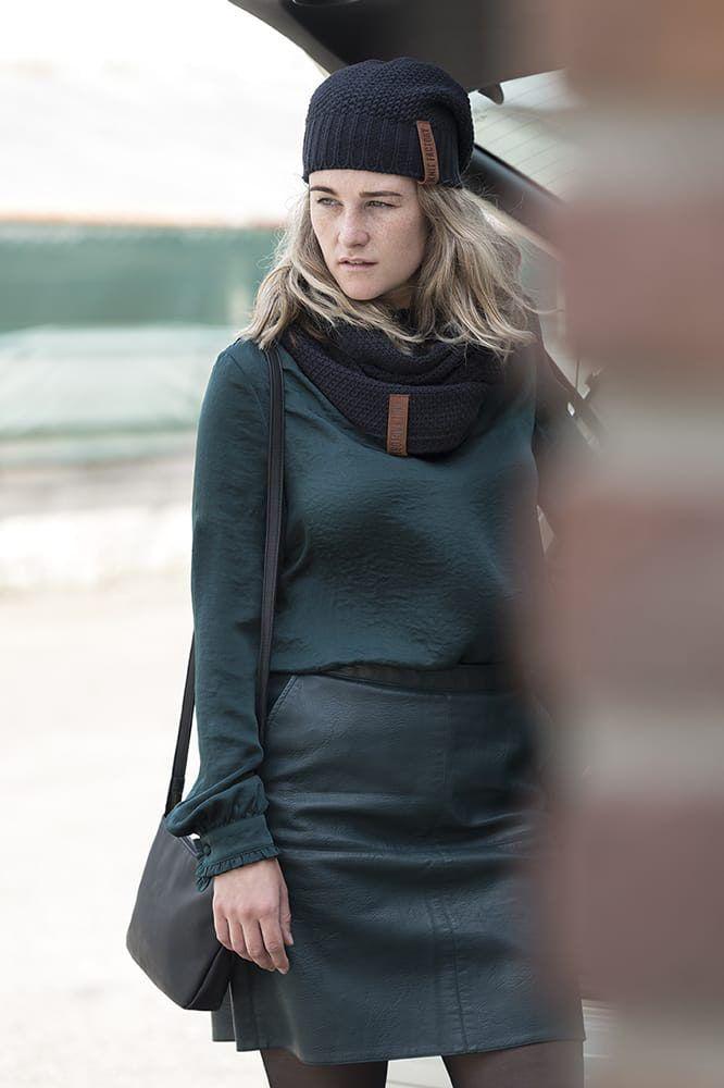 knit factory 1729200 sofia schoudertas zwart 12