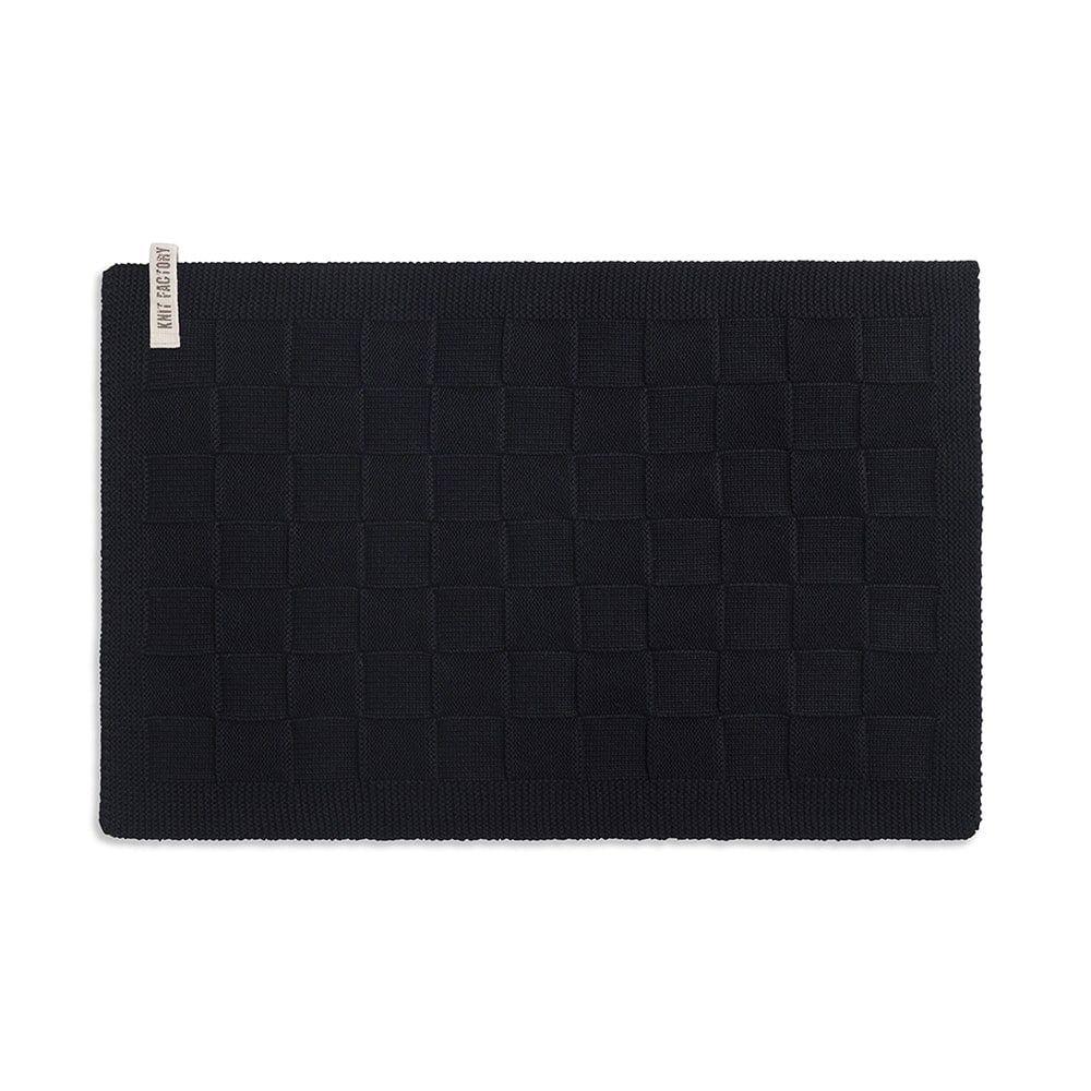 knit factory 2000200 placemat zwart