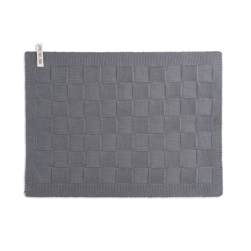knit factory 2000206 placemat med grey
