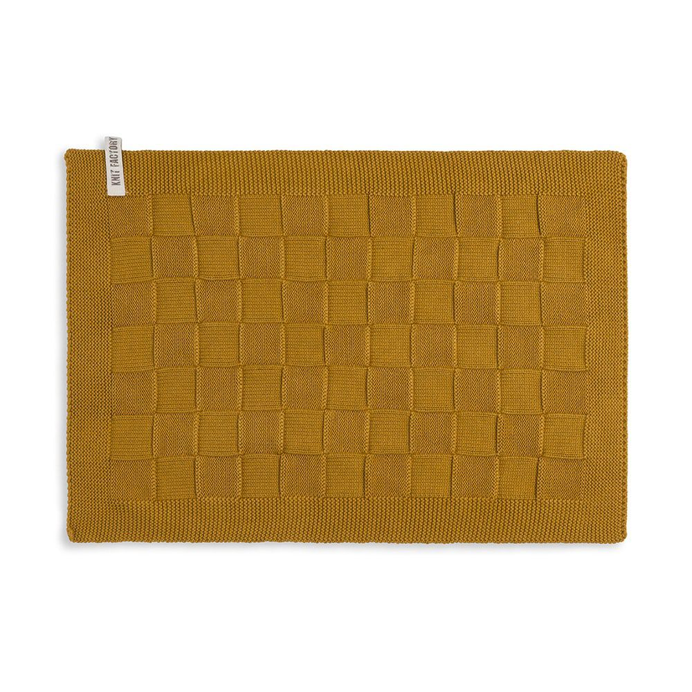 knit factory 2000217 placemat oker