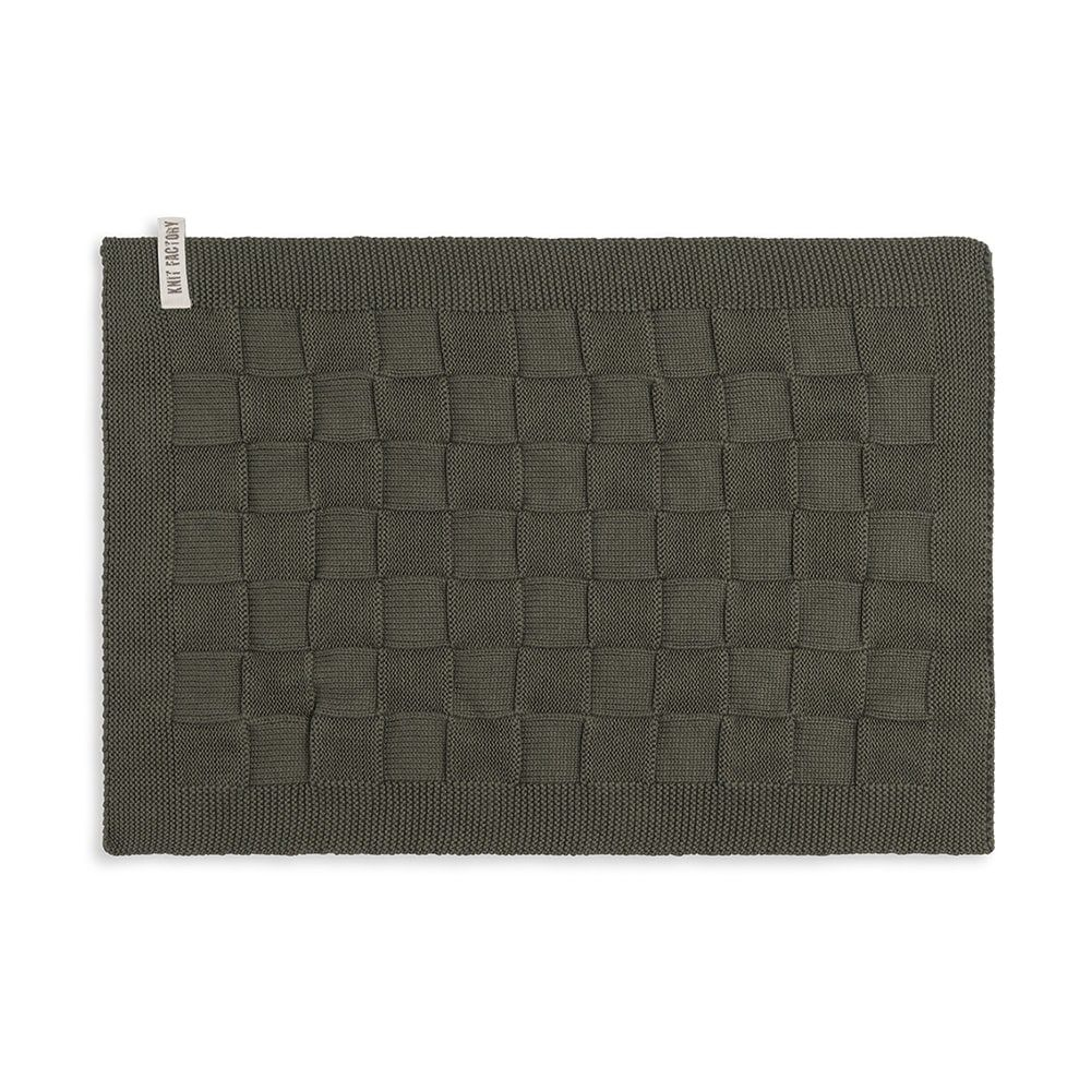 knit factory 2000225 placemat khaki