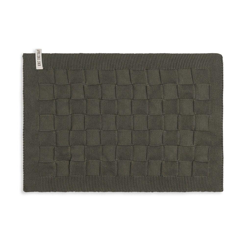 knit factory 2000225 placemat khaki