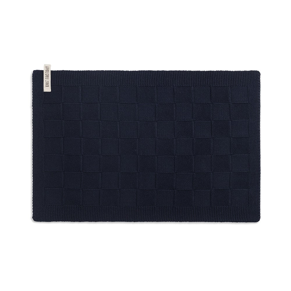 knit factory 2000226 placemat navy