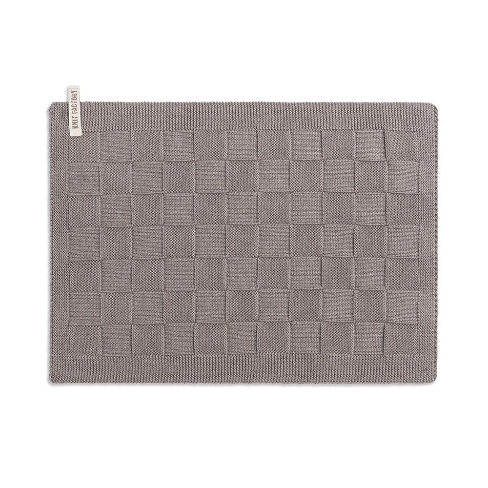 knit factory 2000229 placemat taupe