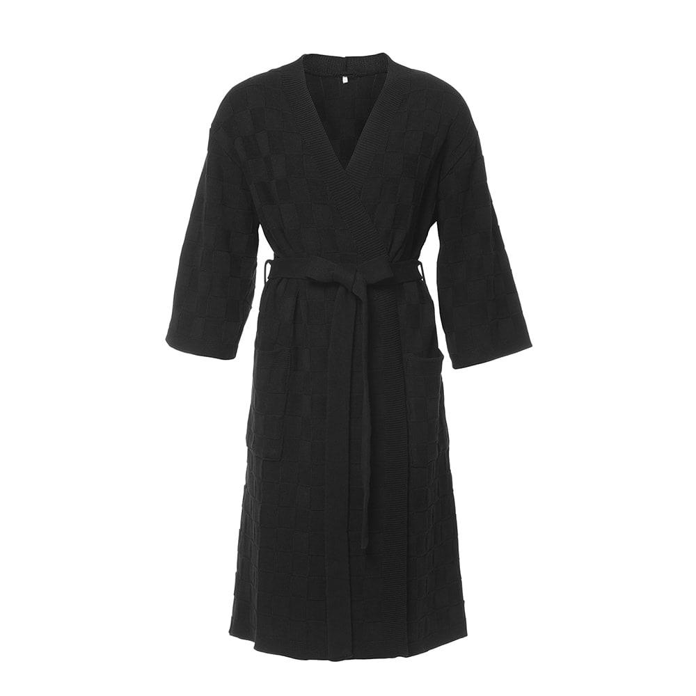 knit factory 2002100 badjas maat m zwart