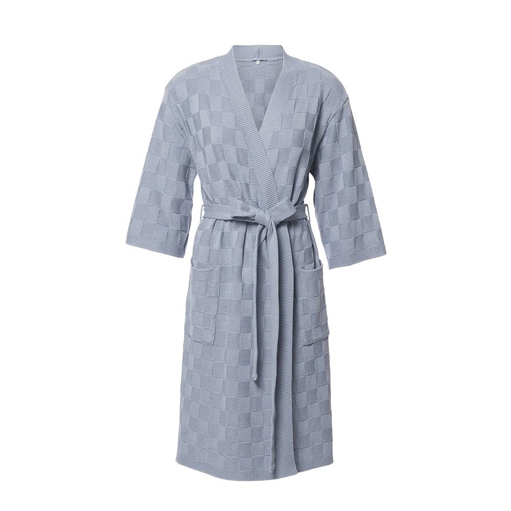 knit factory 2002211 badjas maat l licht grijs