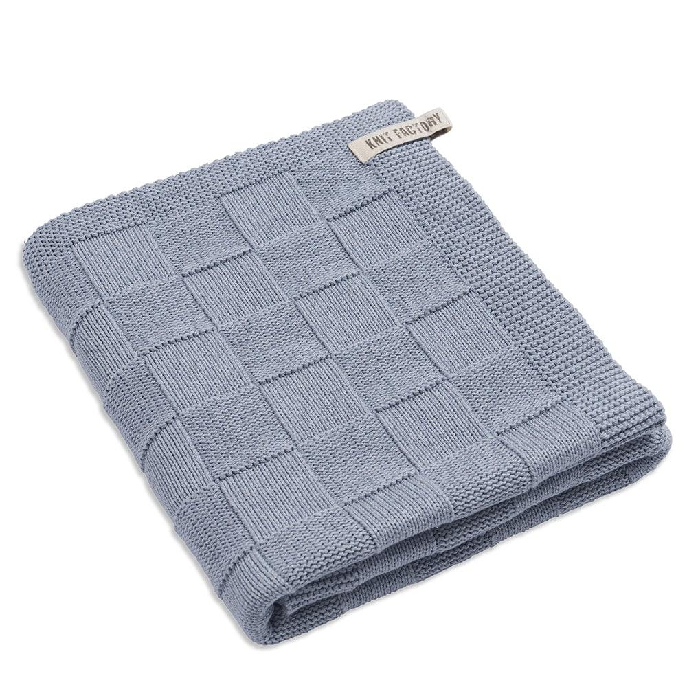 knit factory 2002511 badhanddoek licht grijs