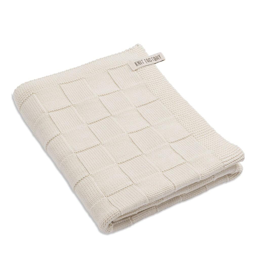 knit factory 2002519 badhanddoek ecru
