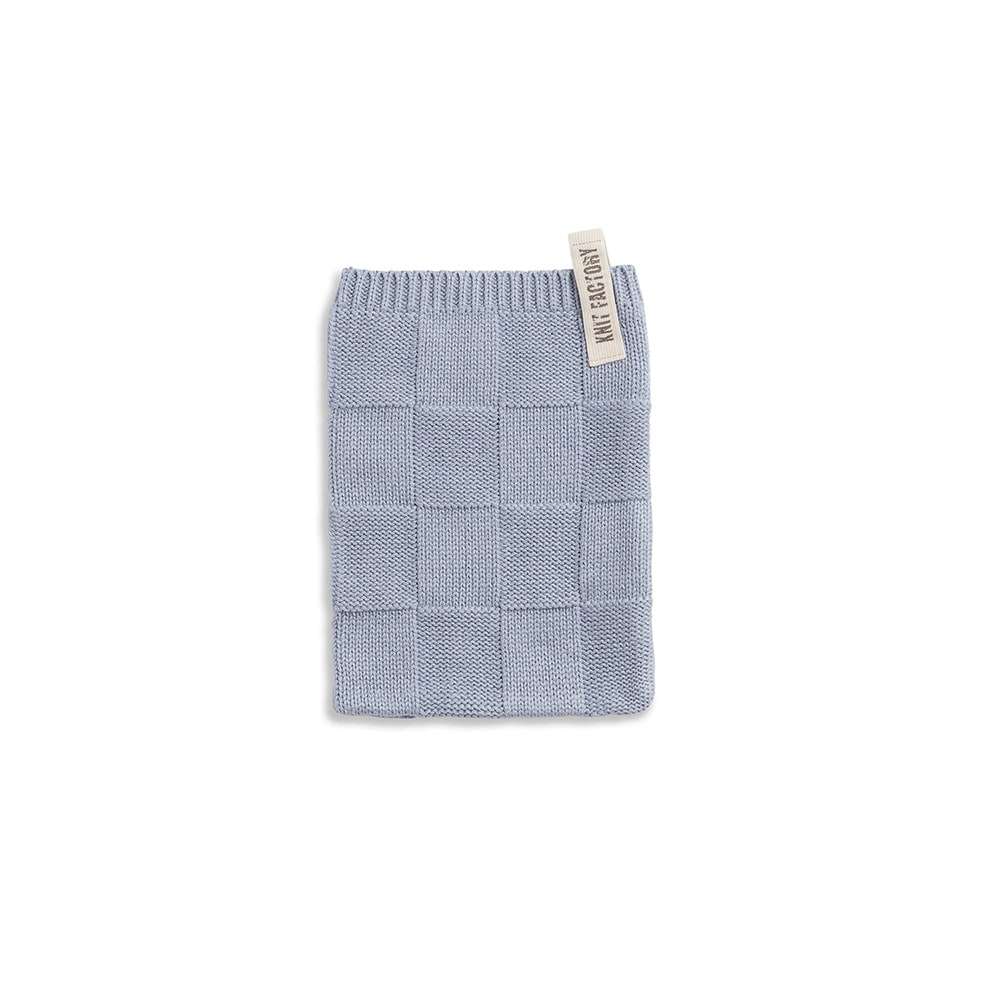 knit factory 2002711 washand licht grijs