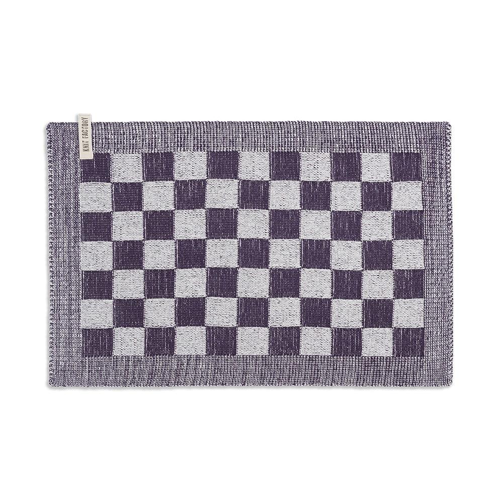 knit factory 2010275 placemat grote blok 2 kleuren ecru paars