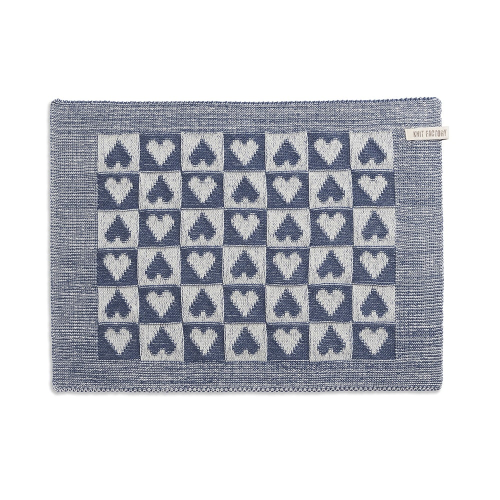 knit factory 2060277 placemat hart klein ecru jeans