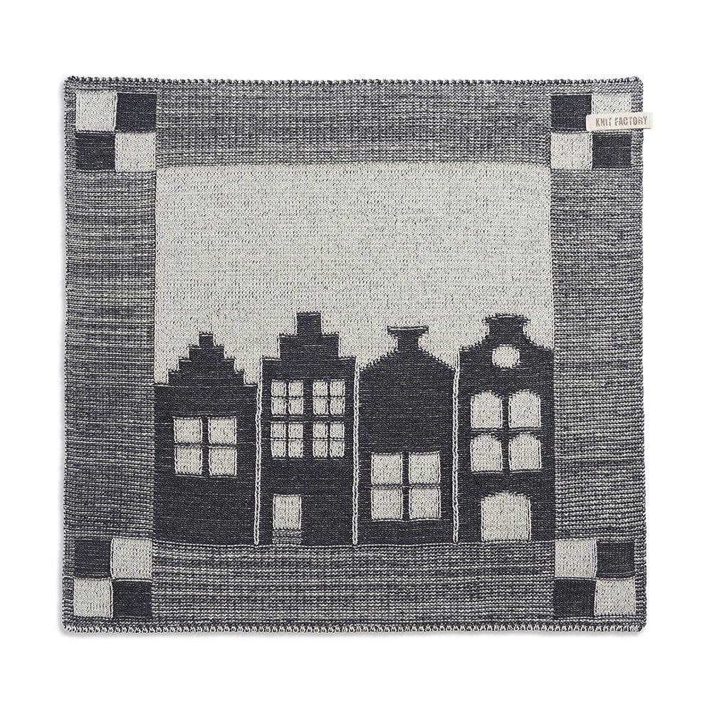 knit factory 2070070 keukendoek huis ecru antraciet
