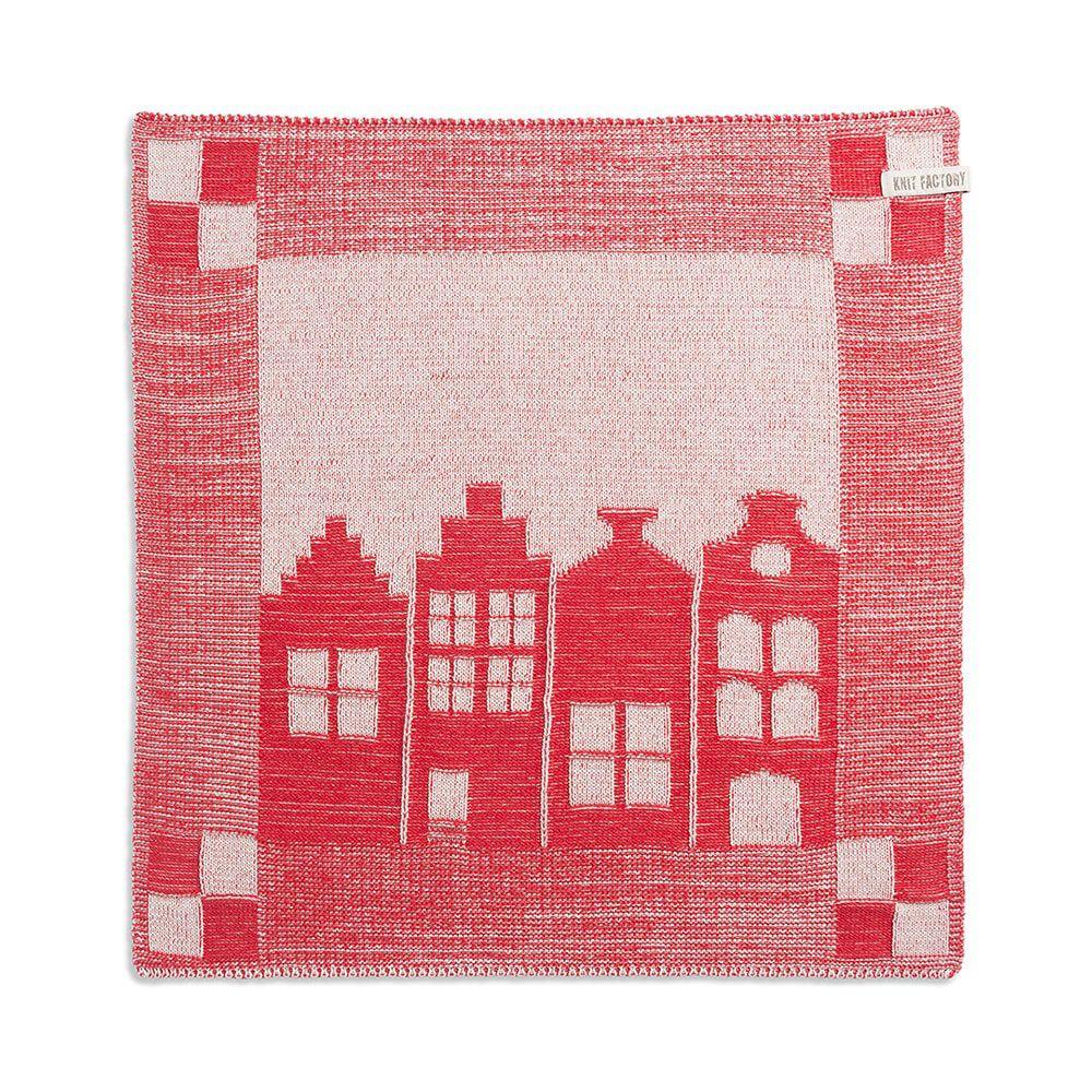 knit factory 2070073 keukendoek huis ecru rood