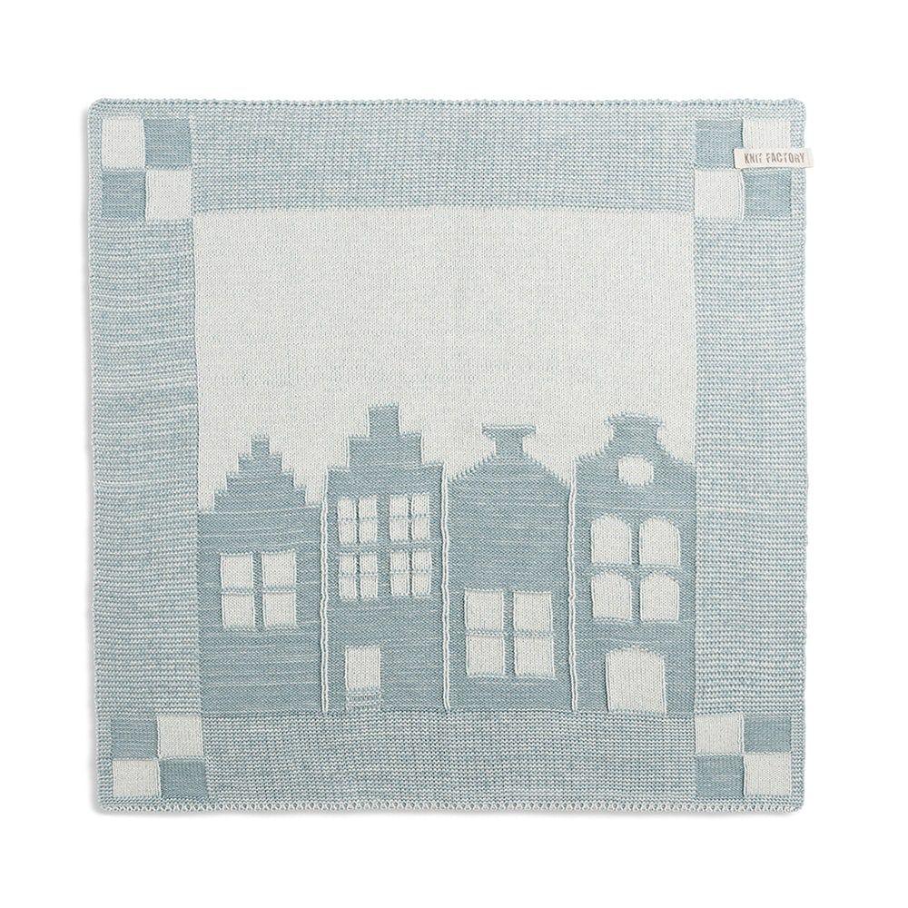 knit factory 2070076 keukendoek huis ecru stone green