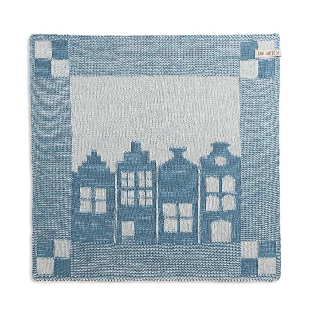 knit factory 2070080 keukendoek huis ecru ocean