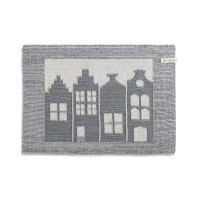Placemat House Ecru/Med Grey