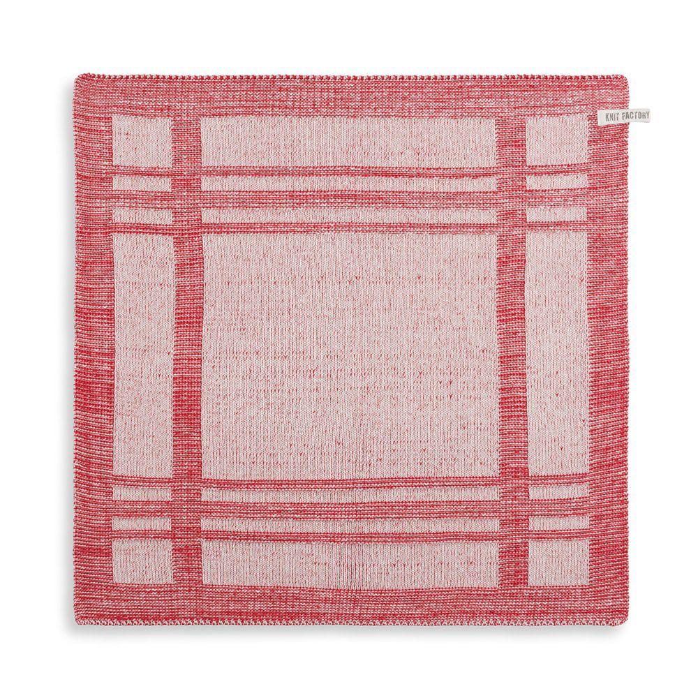 knit factory 2160073 keukendoek olivia ecru rood