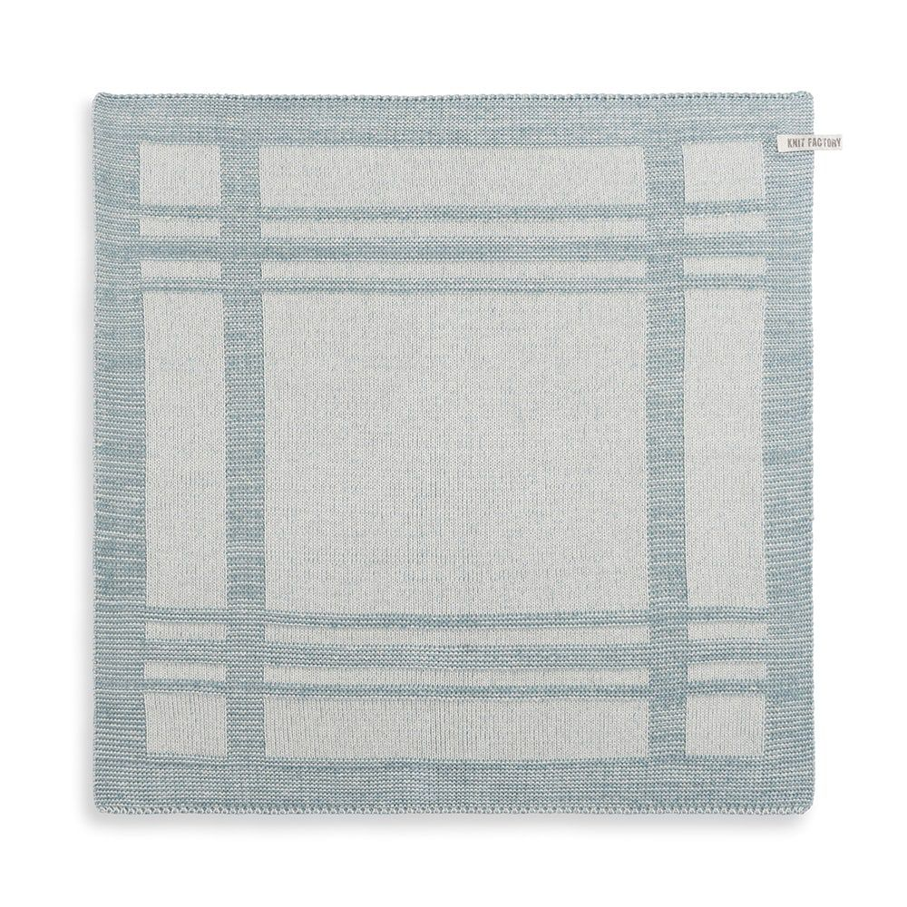 knit factory 2160076 keukendoek olivia ecru stone green