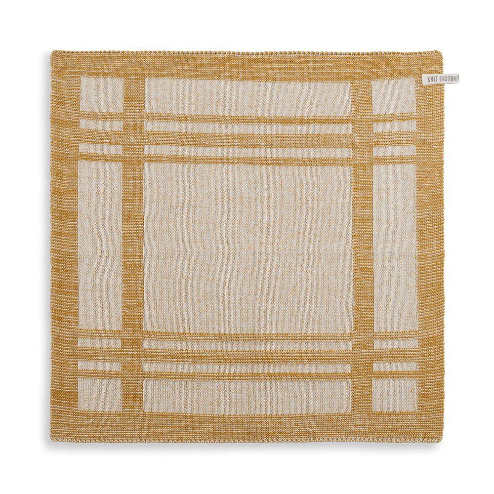 knit factory 2160081 keukendoek olivia ecru oker