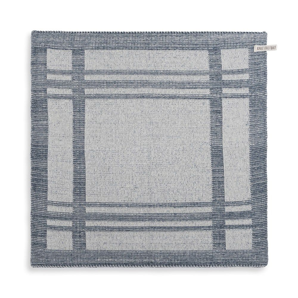 knit factory 2160082 keukendoek olivia ecru granit