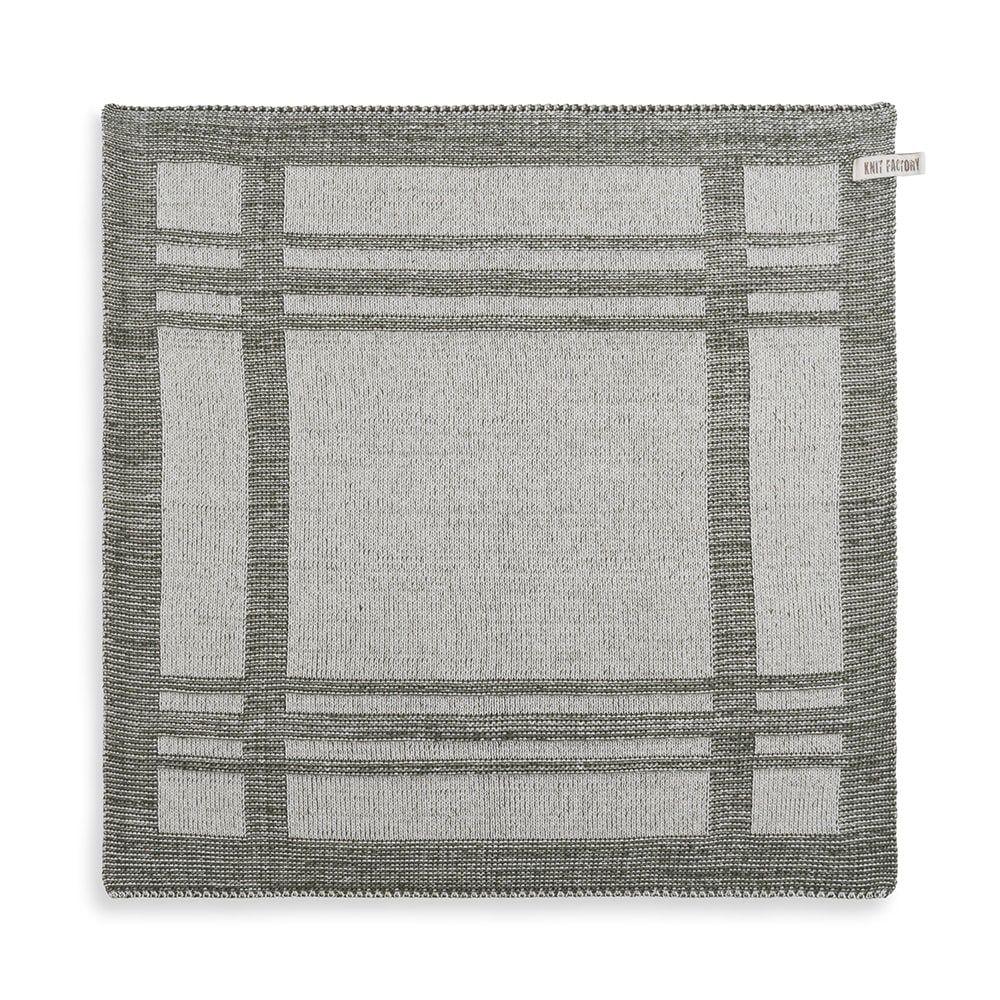 knit factory 2160083 keukendoek olivia ecru khaki
