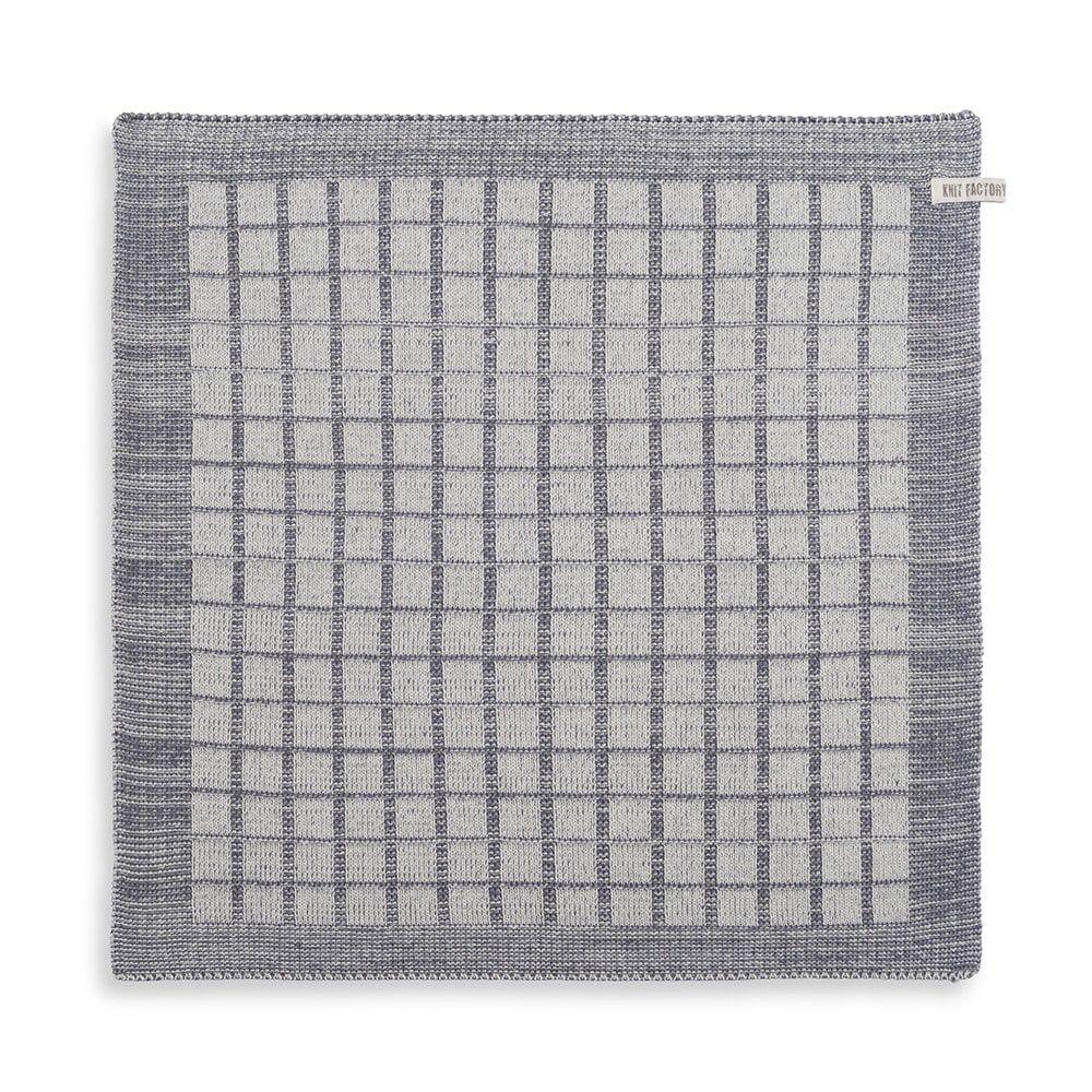 knit factory 2170079 keukendoek alice ecru med grey