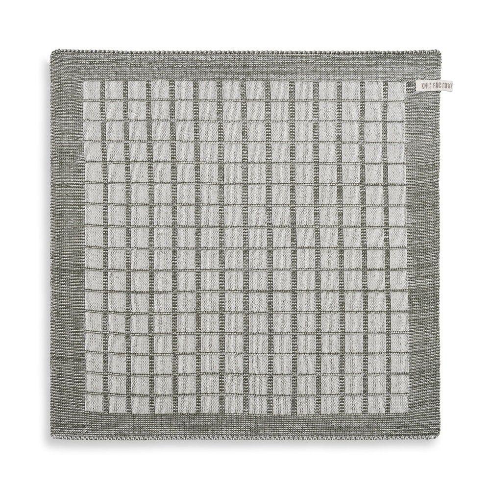 knit factory 2170083 keukendoek alice ecru khaki