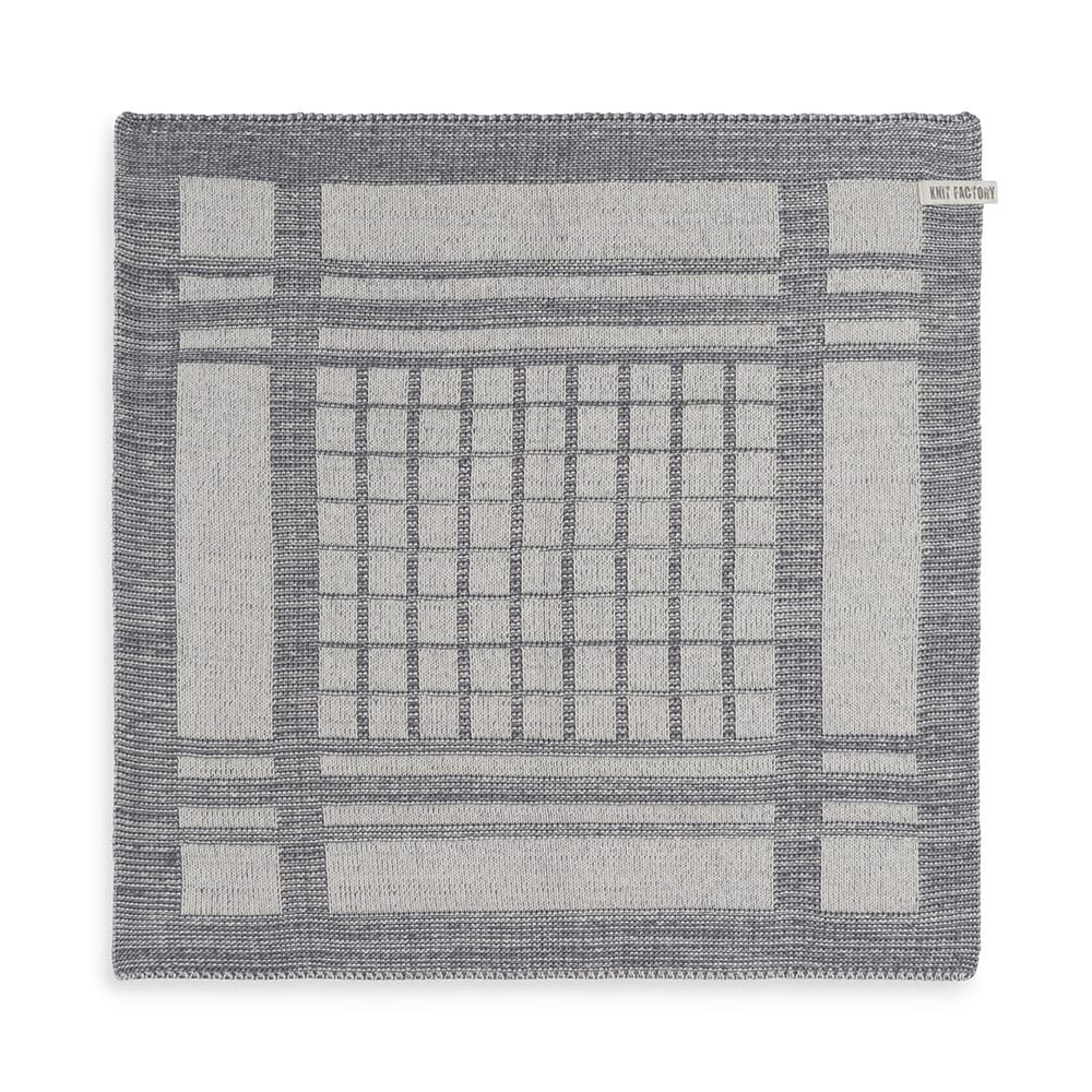 knit factory 2180079 keukendoek emma ecru med grey 1