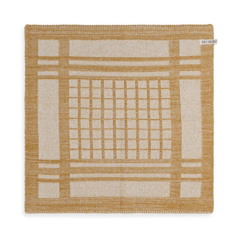 knit factory 2180081 keukendoek emma ecru oker 1