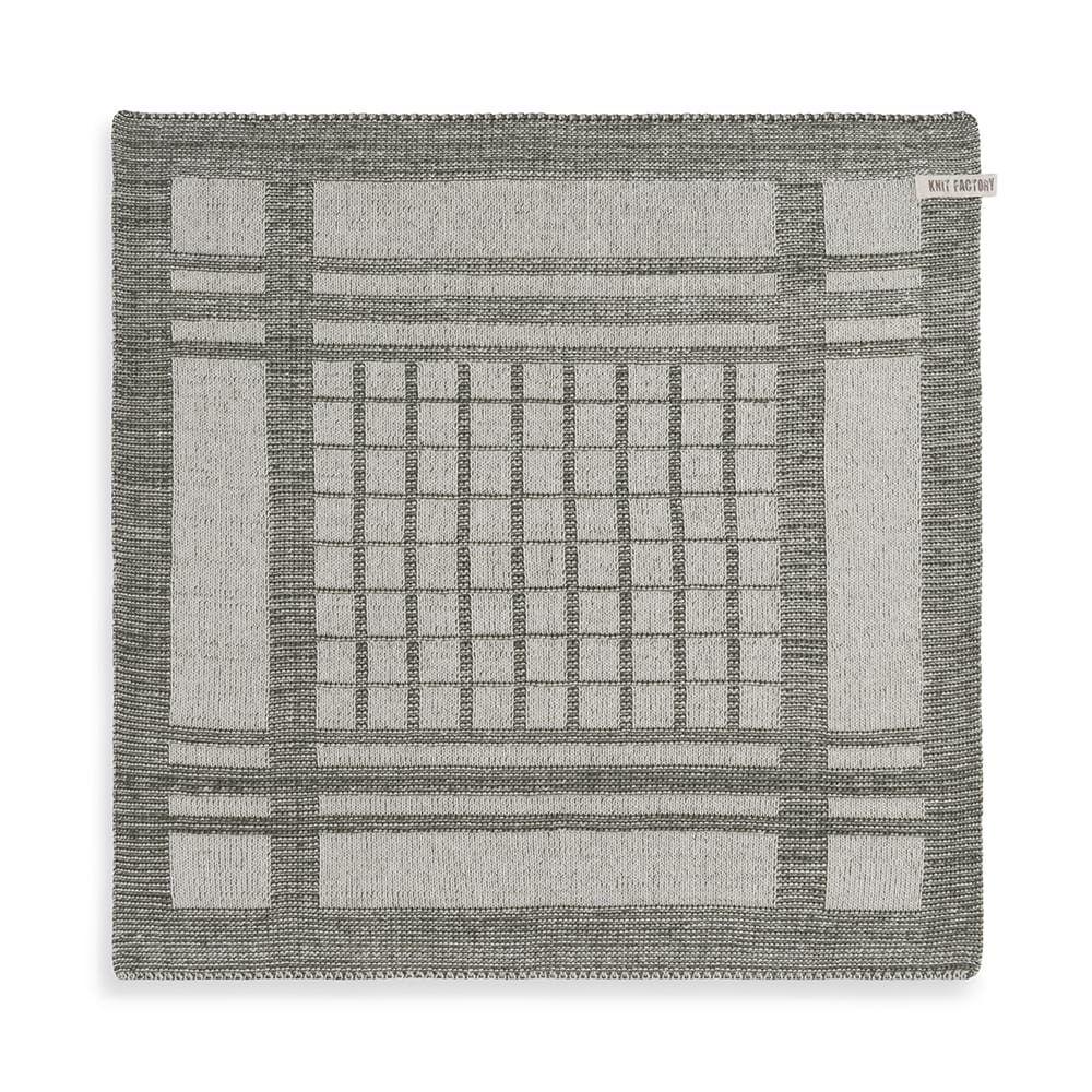 knit factory 2180083 keukendoek emma ecru khaki 1