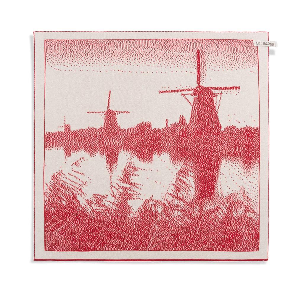knit factory 2300073 keukendoek molens ecru rood 1