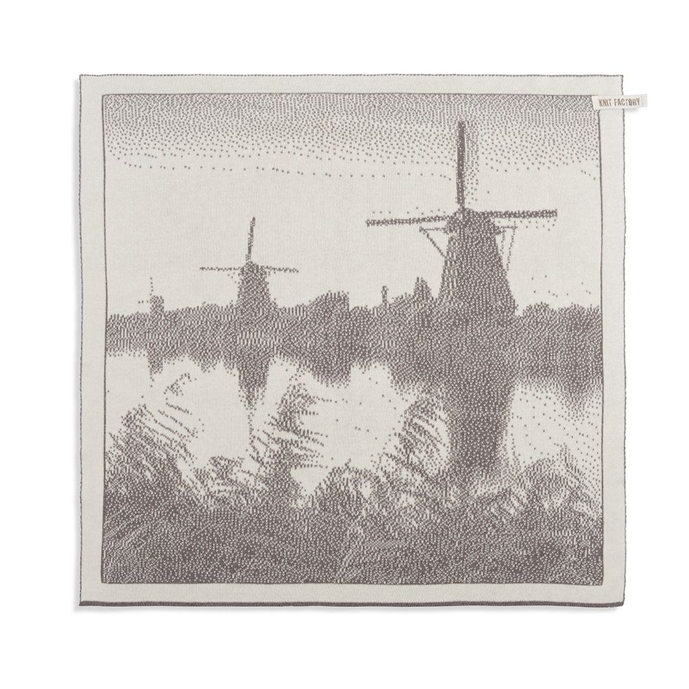 knit factory 2300078 keukendoek molens ecru taupe 1