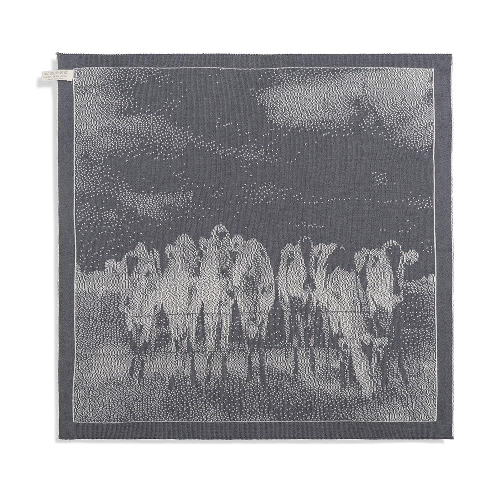 knit factory 2310079 keukendoek koeien ecru med grey 2
