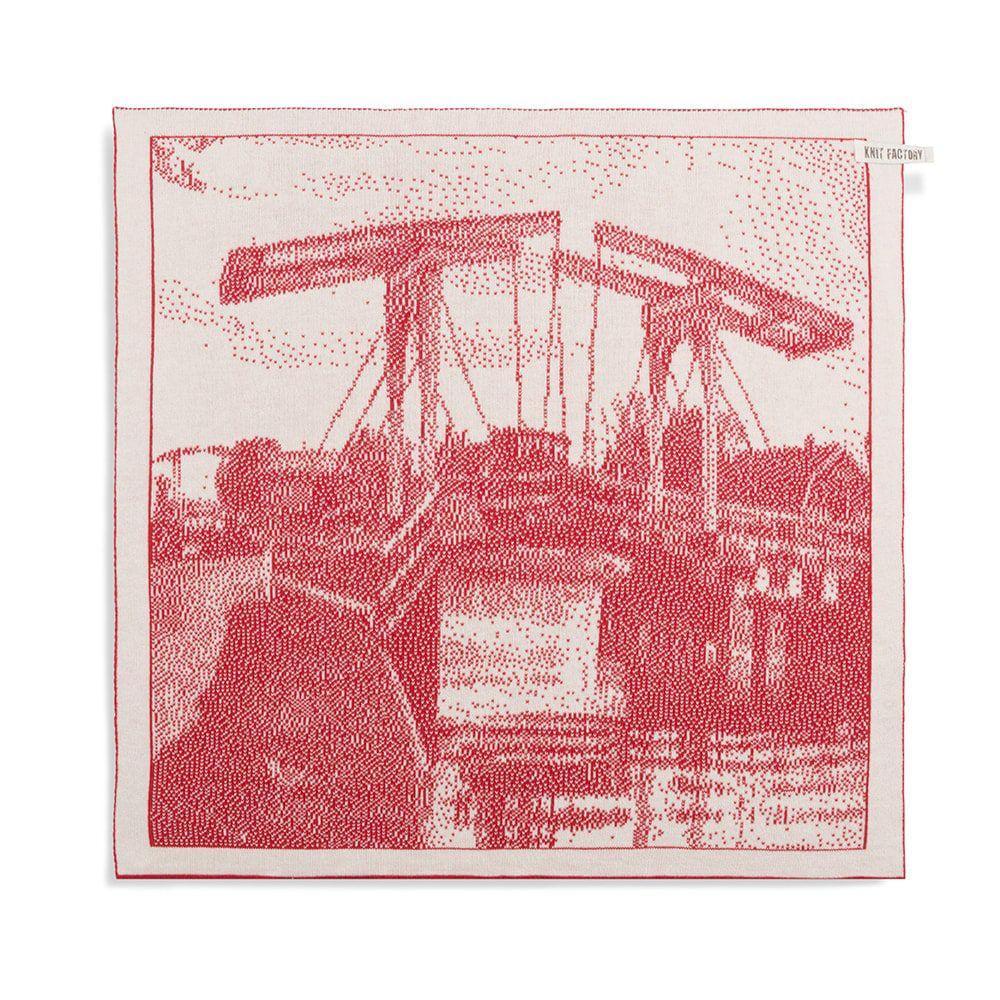 knit factory 2320073 keukendoek brug ecru rood 1