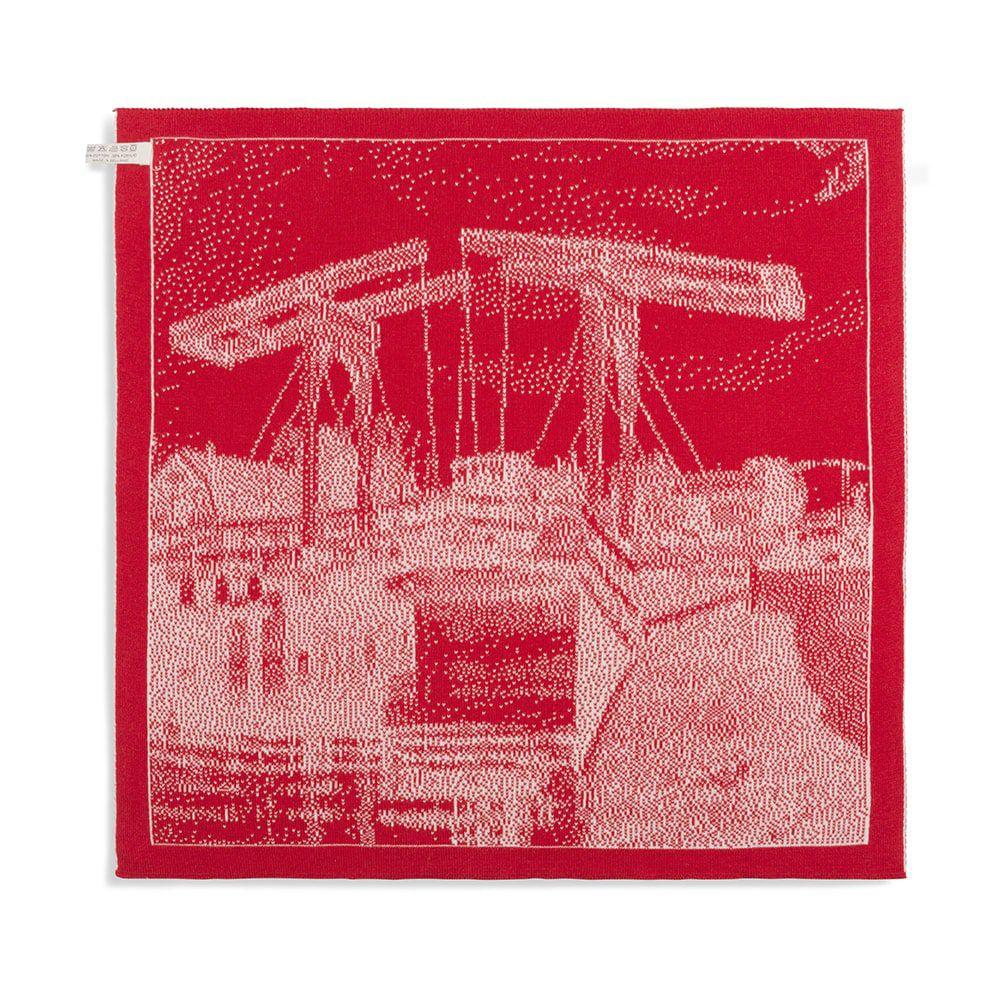 knit factory 2320073 keukendoek brug ecru rood 2