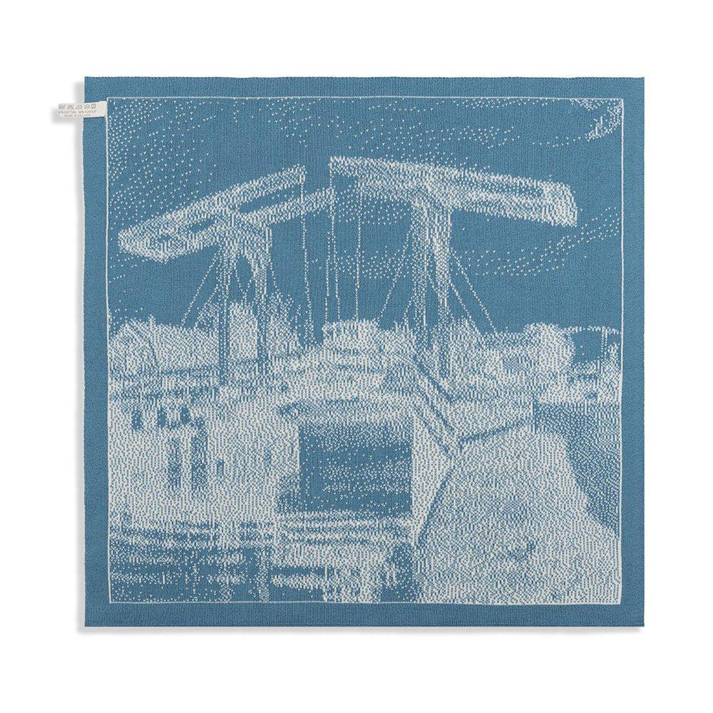 knit factory 2320080 keukendoek brug ecru ocean 2