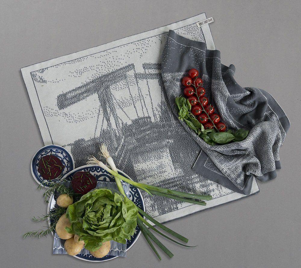 knit factory 23200 keukendoek hollandse vergezichten brug 1