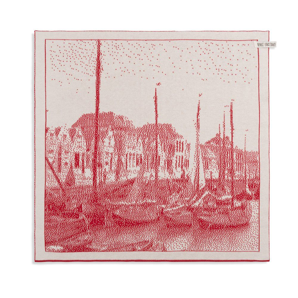 knit factory 2330073 keukendoek haven ecru rood 1
