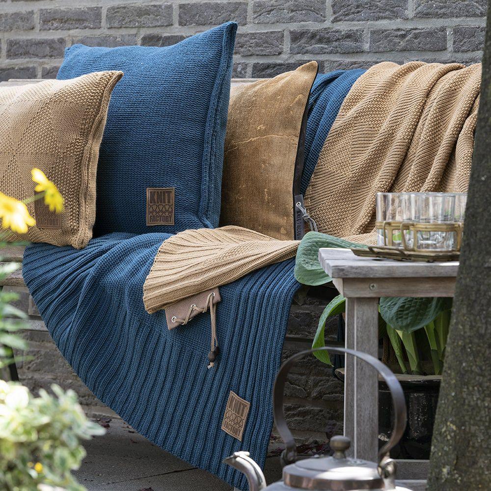 knit factory kf11301100850 plaid uni petrol 2