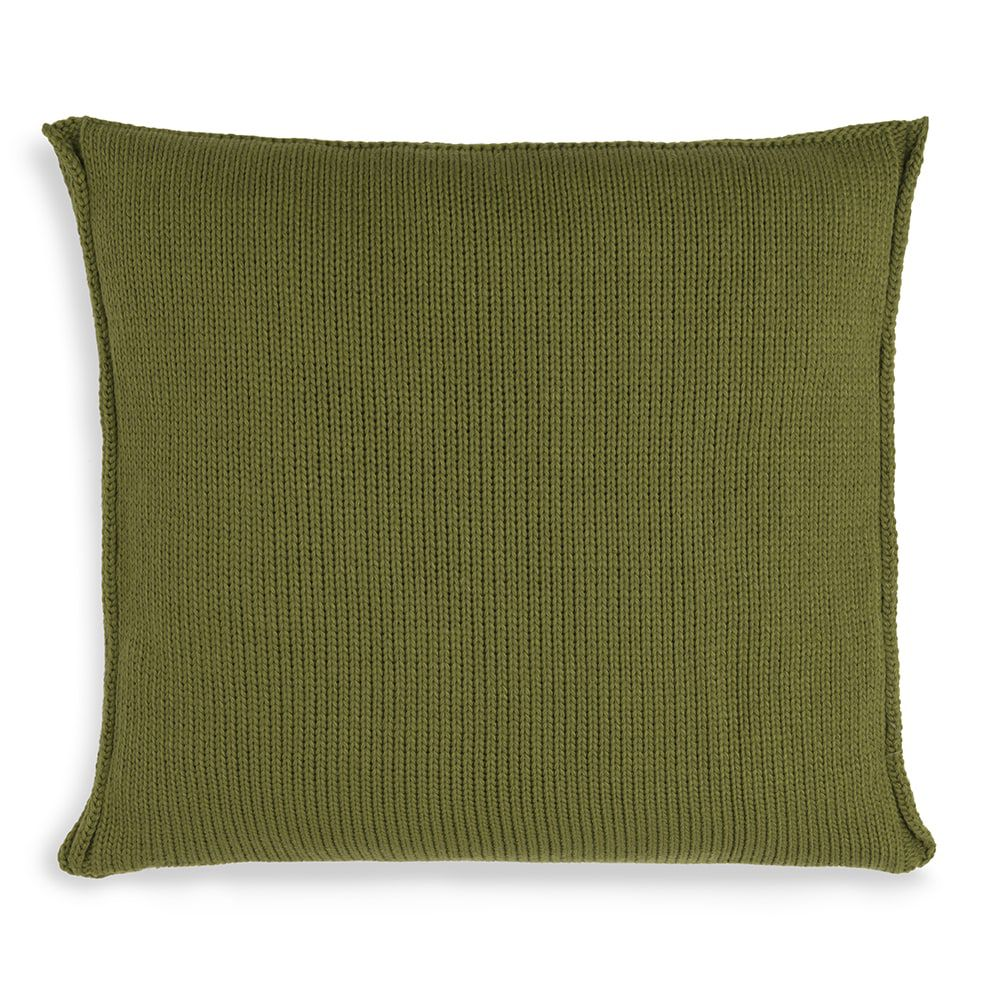 knit factory kf11301201550 kussen 50x50 uni mosgroen 2
