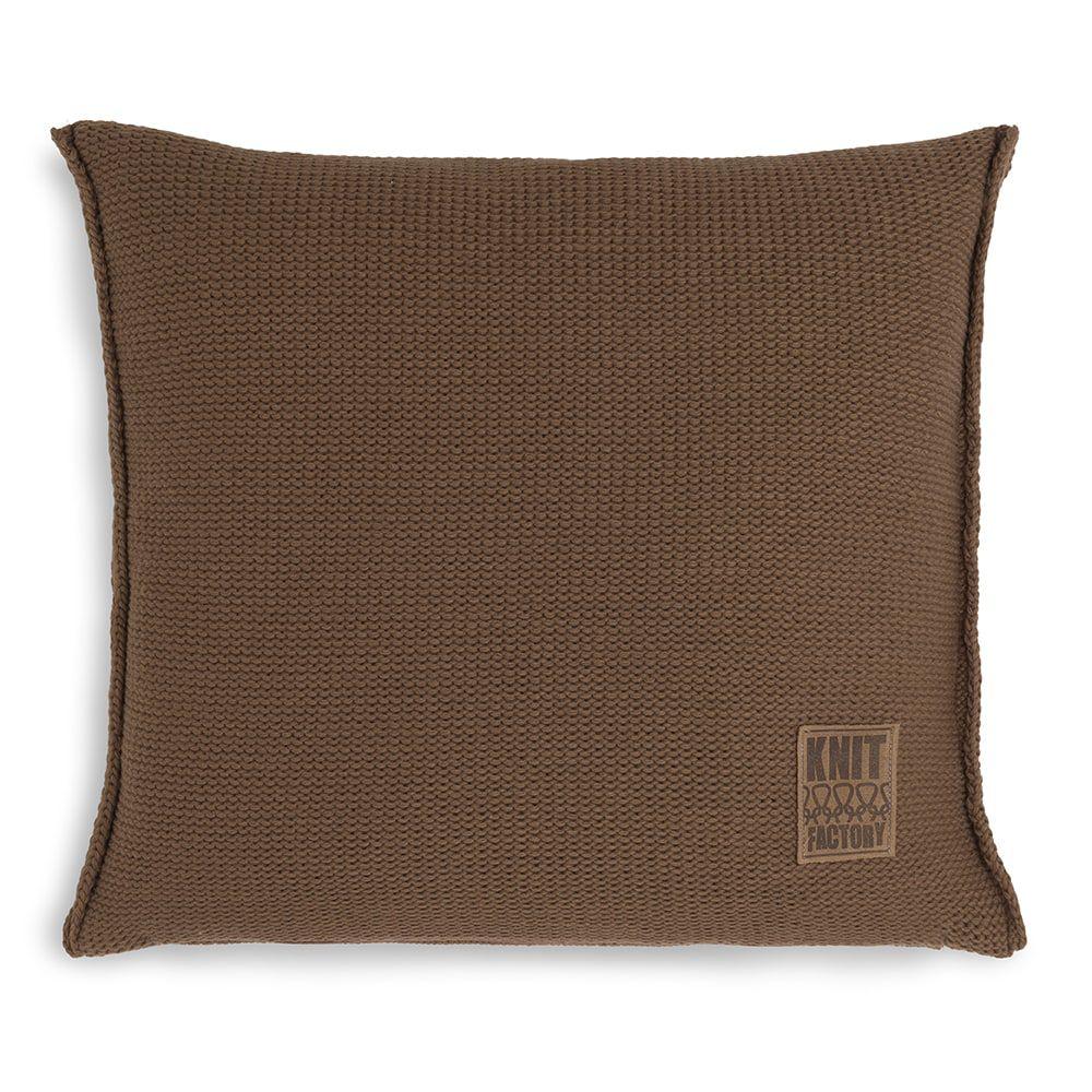 knit factory kf11301203550 kussen 50x50 uni tobacco 1
