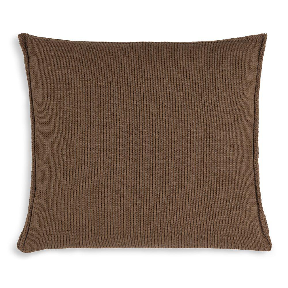 knit factory kf11301203550 kussen 50x50 uni tobacco 2