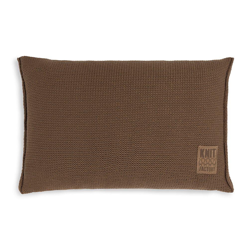 knit factory kf11301303550 kussen 60x40 uni tobacco 1