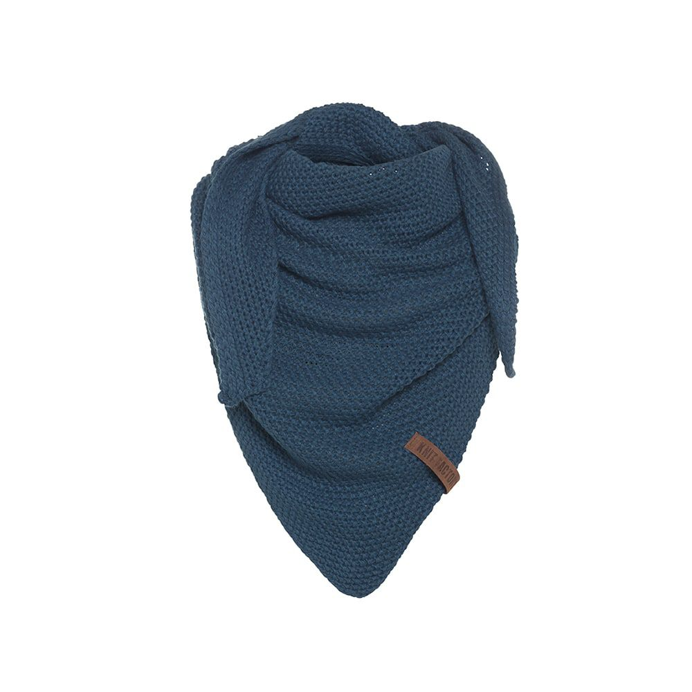 knit factory kf120059008 coco omslagdoek junior petrol 1